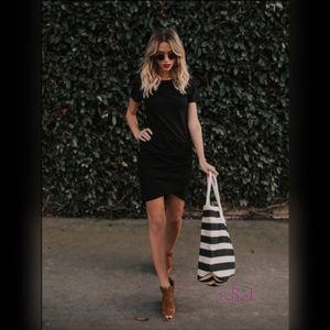 NEW Black Wrap Dress